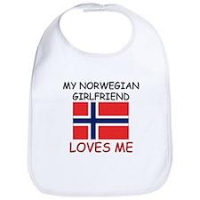 My Norwegian Girlfriend Loves Me Bib