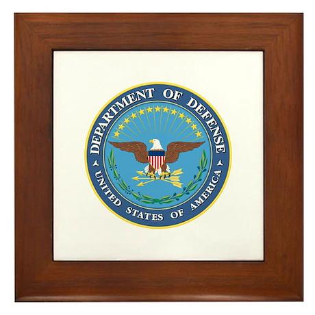Dept. of Defense Framed Tile