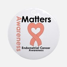 Endometrial Cancer Matters Ornament (Round)