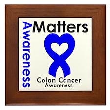 Colon Cancer Matters Framed Tile