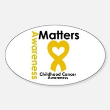 Childhood Cancer Matters Oval Decal