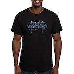 Powered By Nanotechnology Men's Fitted T-Shirt (da