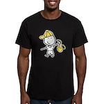 Boy & Sax Men's Fitted T-Shirt (dark)
