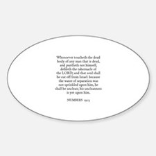 NUMBERS 19:13 Oval Decal