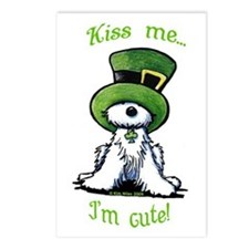 Kiss Me St. Patty's Westie Postcards (Package of 8