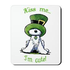 Kiss Me St. Patty's Westie Mousepad