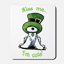 Kiss Me St. Patty's Westie Mousepad