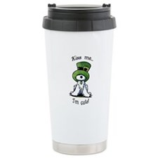 Kiss Me St. Patty's Westie Travel Mug
