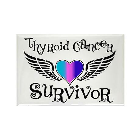 Thyroid Cancer Survivor Rectangle Magnet (100 pack