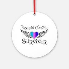 Thyroid Cancer Survivor Ornament (Round)