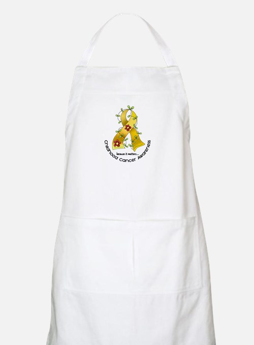 Flower Ribbon CHILD CANCER BBQ Apron