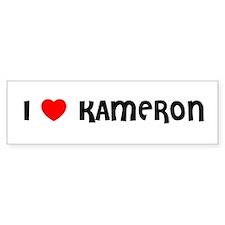 I LOVE KAMERON Bumper Car Sticker