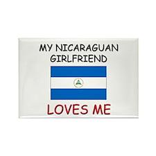 My Nicaraguan Girlfriend Loves Me Rectangle Magnet