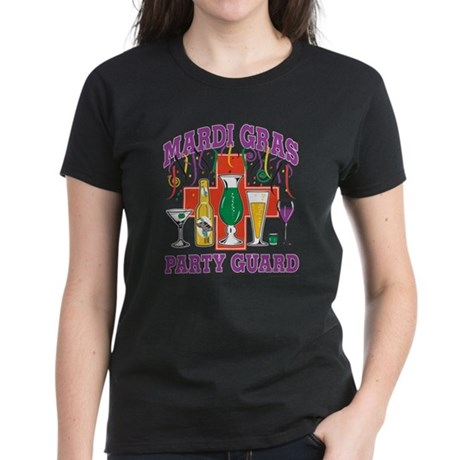 Marty Gras Party Guard Women's Dark T-Shirt