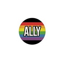 ALLY 1 inch Rainbow Button (100 pack)