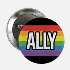 ALLY 2.25 inch Rainbow Button (10 pack)