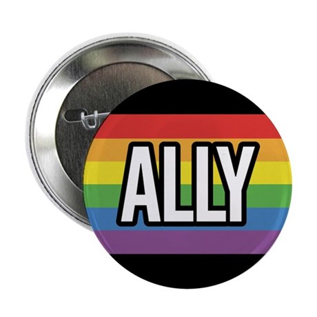ALLY 2.25 inch Rainbow Button (100 pack)