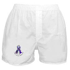 Flower Ribbon COLON CANCER Boxer Shorts
