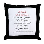 Lichtenberg on Books II Throw Pillow