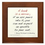 Lichtenberg on Books II Framed Tile