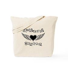 Melanoma Survivor Heart Tote Bag
