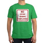 No Crying Sign Men's Fitted T-Shirt (dark)