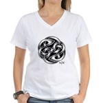 Celtic Yin Yang Women's V-Neck T-Shirt