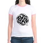 Celtic Yin Yang Jr. Ringer T-Shirt