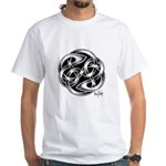 Celtic Yin Yang White T-Shirt