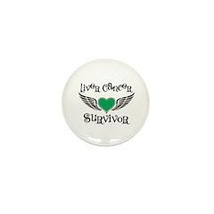 Liver Cancer Survivor Mini Button (10 pack)