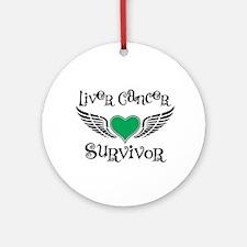 Liver Cancer Survivor Ornament (Round)