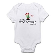 little brother shirt pirate Infant Bodysuit