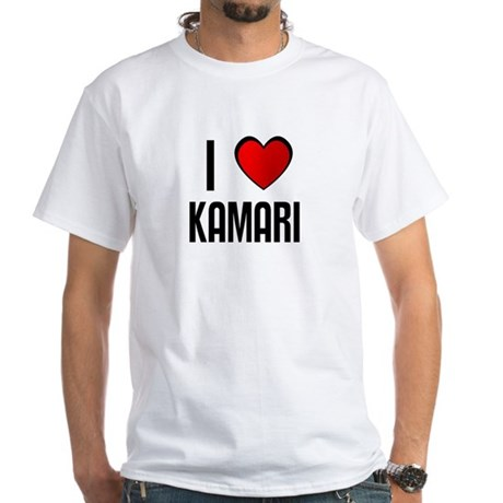 I LOVE KAMARI White T-Shirt
