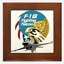 F-16 Fighting Falcon Framed Tile