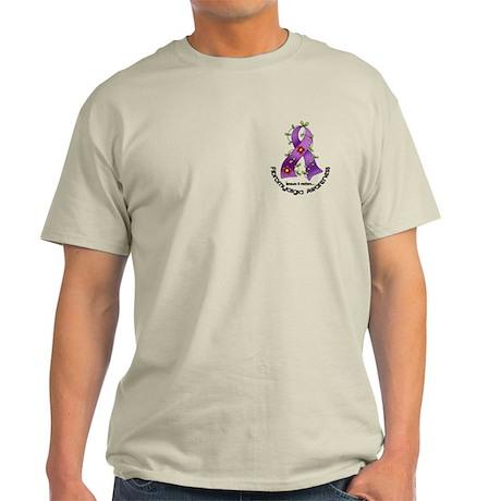 Flower Ribbon Fibromyalgia Shirt Light T-Shirt