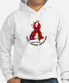 Flower Ribbon Heart Disease Hoodie