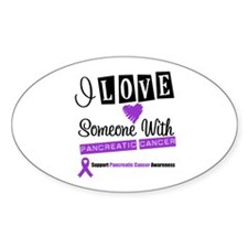 PancreaticCancer Support Oval Sticker (10 pk)