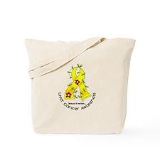 Flower Ribbon LIVER CANCER Tote Bag