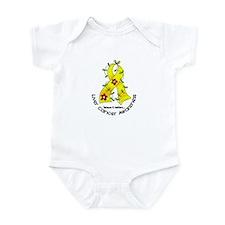 Flower Ribbon LIVER CANCER Infant Bodysuit