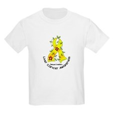 Flower Ribbon LIVER CANCER T-Shirt
