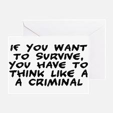 Criminal Mind Greeting Card