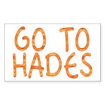 Go To Hades Rectangle Sticker 10 pk)