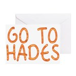 Go To Hades Greeting Cards (Pk of 10)