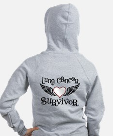 Lung Cancer Survivor Zip Hoodie