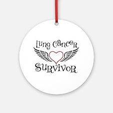 Lung Cancer Survivor Ornament (Round)