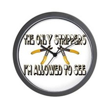 Only Strippers Wall Clock