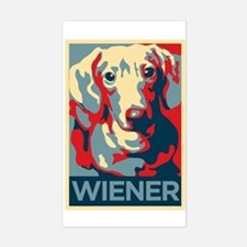 Vote Wiener! Rectangle Decal