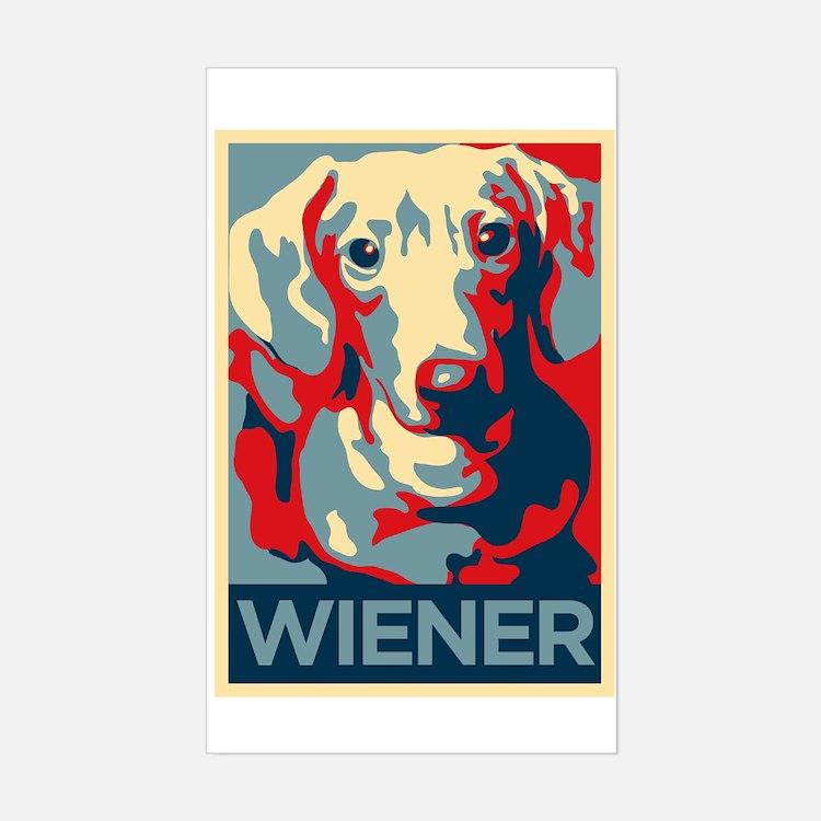 Vote Wiener! Rectangle Decal