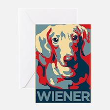 Vote Wiener! Greeting Card
