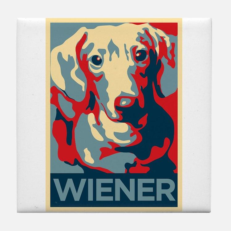 Vote Wiener! Tile Coaster